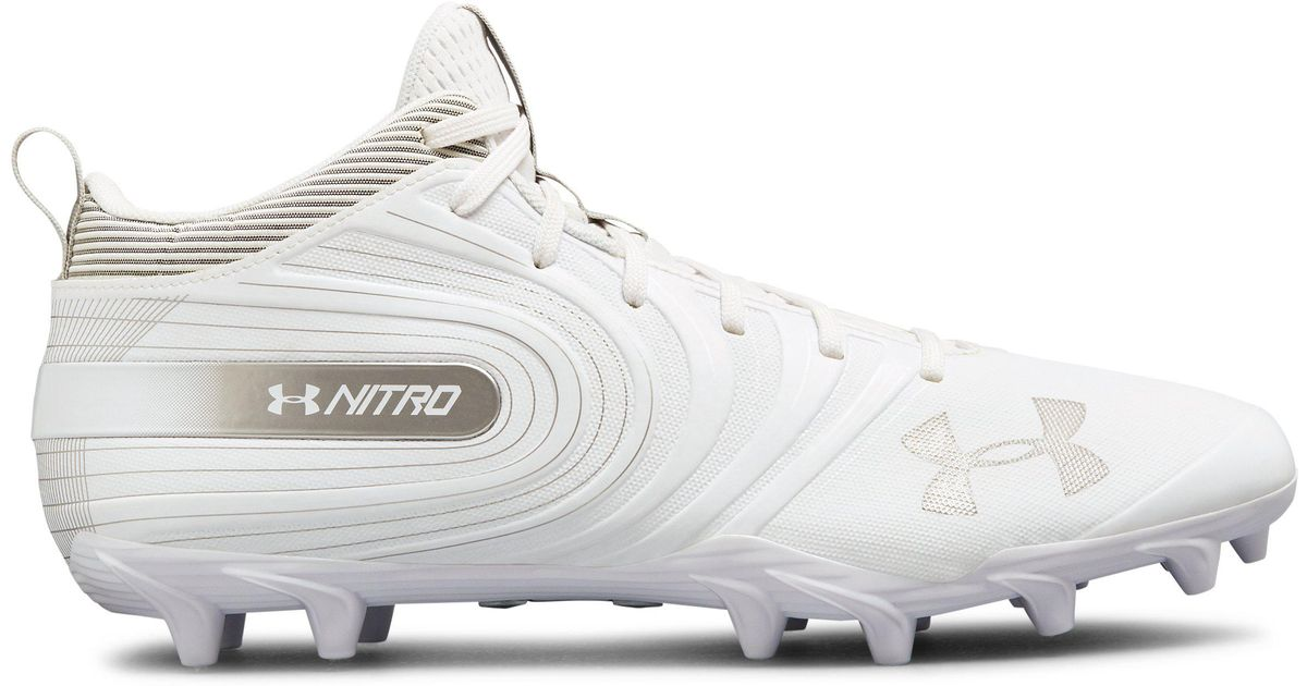 0d4d4313482 Under Armour Men s Nitro Mid Mc Football Cleats in White for Men - Lyst