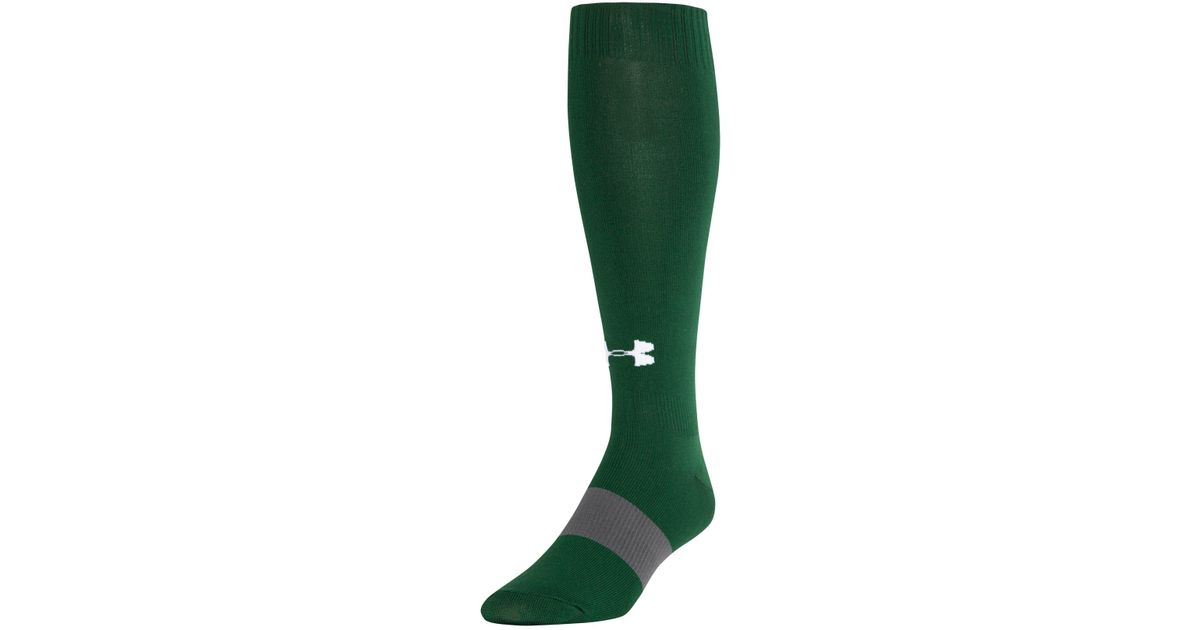 fa9b4bbf684 Lyst - Under Armour Men s Ua Soccer Solid Over-the-calf Socks in Green for  Men