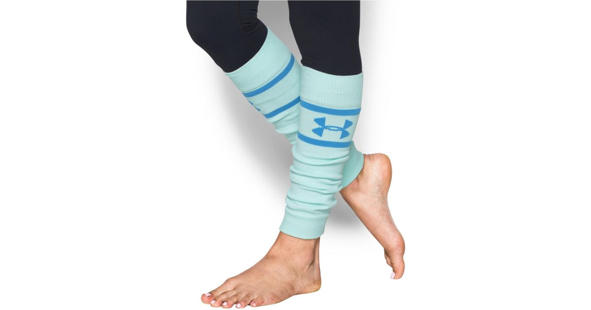 UA Under Armour Sport Leg Warmers 2 pair Women/'s Blue Teal Aqua
