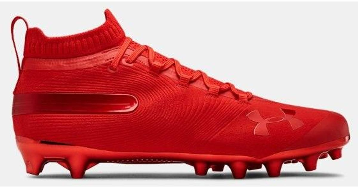 Under Armour Men S Ua Spotlight Suede Mc Football Cleats In Red For Men Lyst