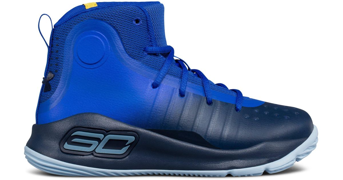 huge inventory 92b8f 938b6 Under Armour Blue Pre-school Ua Curry 4 Mid Basketball Shoes for men