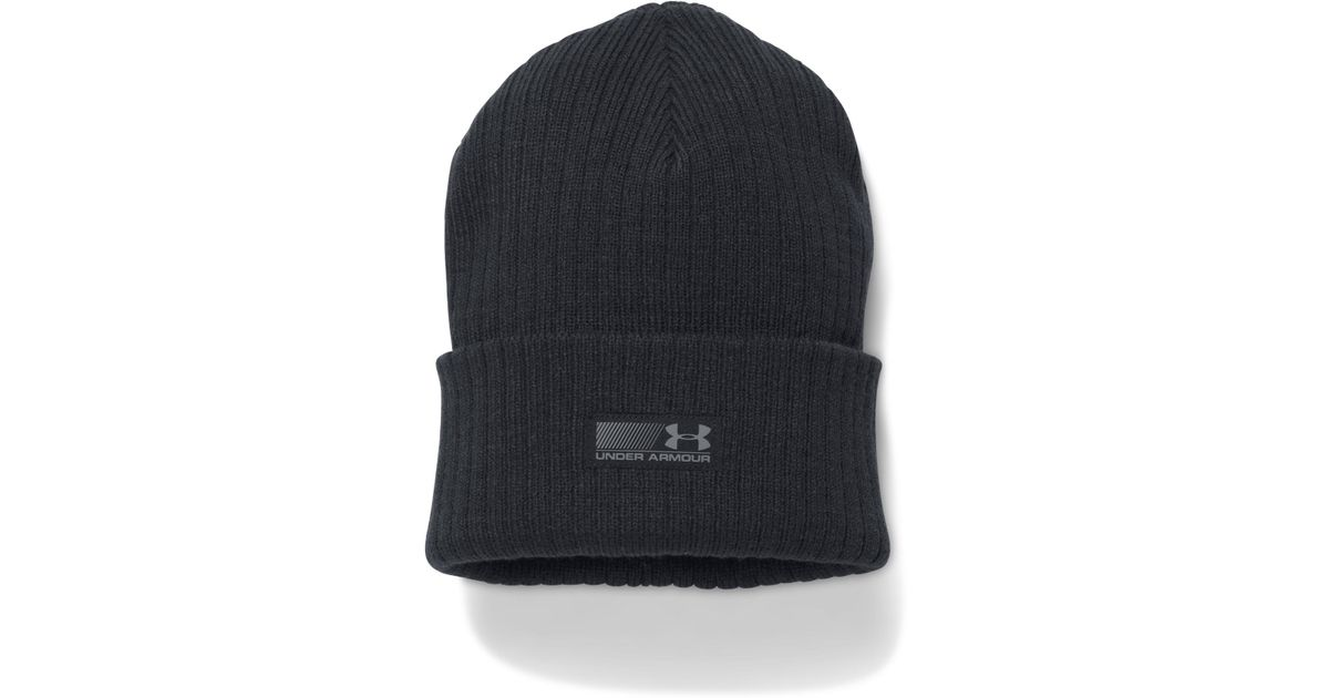 d0551f08d88 Lyst - Under Armour Men s Ua Truck Stop Beanie in Black for Men