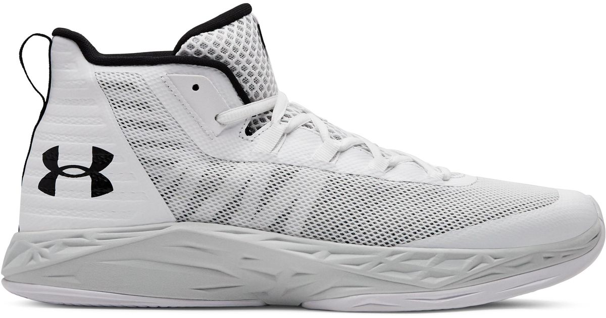 Ua Jet Mid Basketball Shoes for Men - Lyst