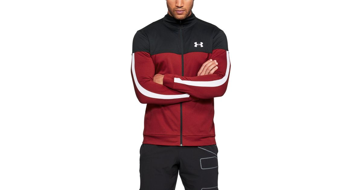 6a111ef7ba Under Armour Red Men's Ua Sportstyle Pique Jacket for men