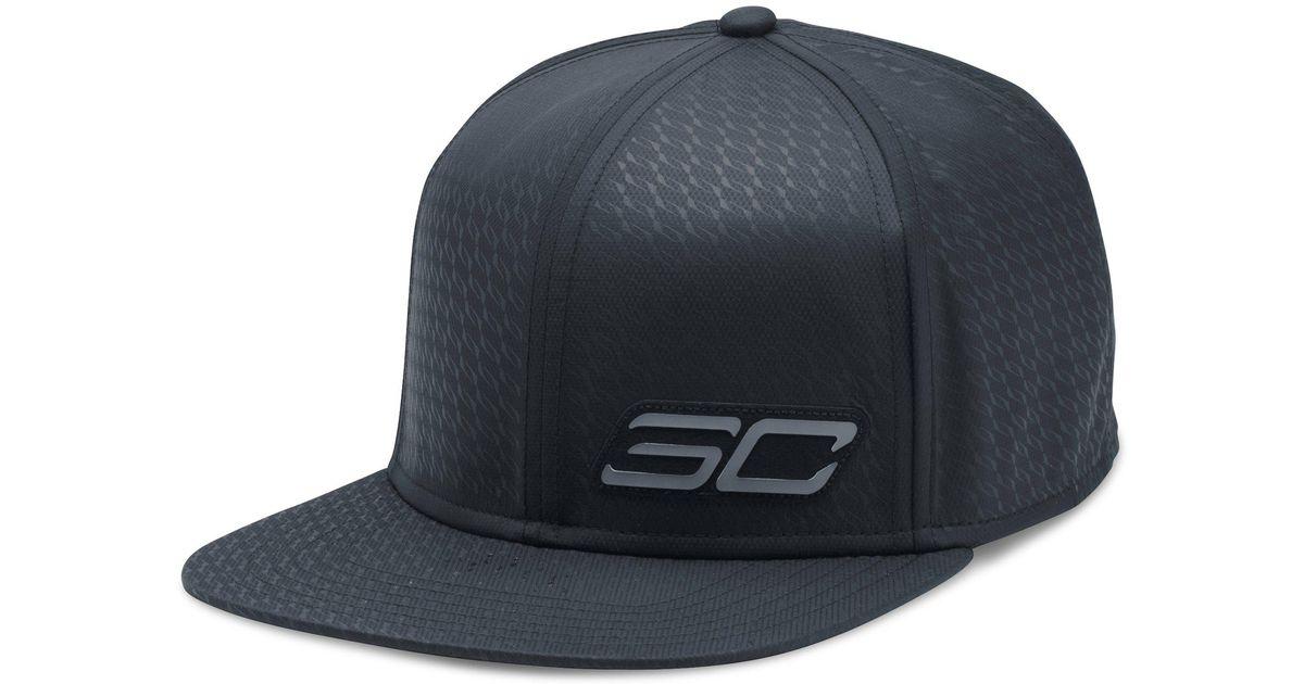 Lyst - Under Armour Men s Sc30 Essential Snapback Cap in Black for Men 38415cf807a