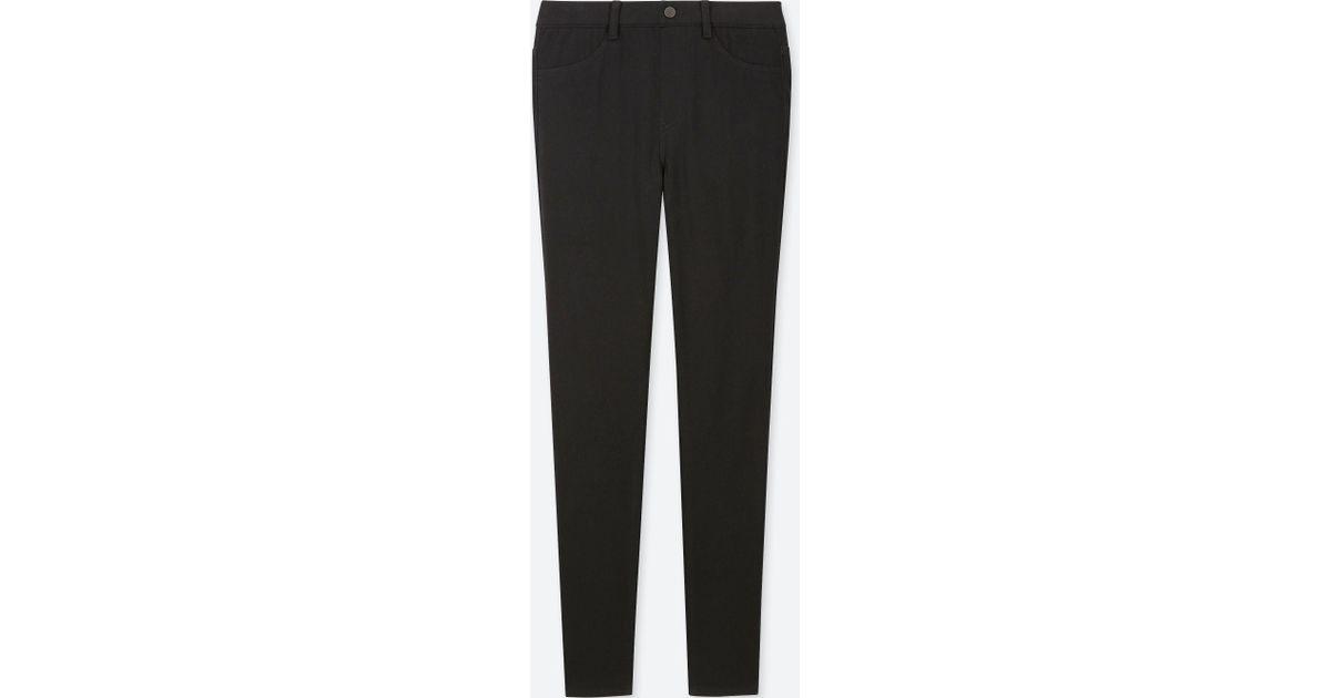 415d305f3be6b7 Uniqlo Stretch Jersey LEGGINGS Trousers in Black - Lyst