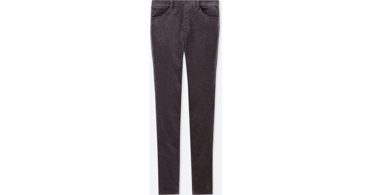 0ebbfc0b7caa46 Lyst - Uniqlo Women Heattech High-rise Velvet LEGGINGS Pants