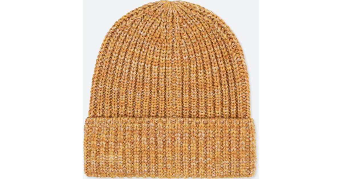 Lyst - Uniqlo Heattech Knitted Cap in Yellow for Men 31ef6da4d56d