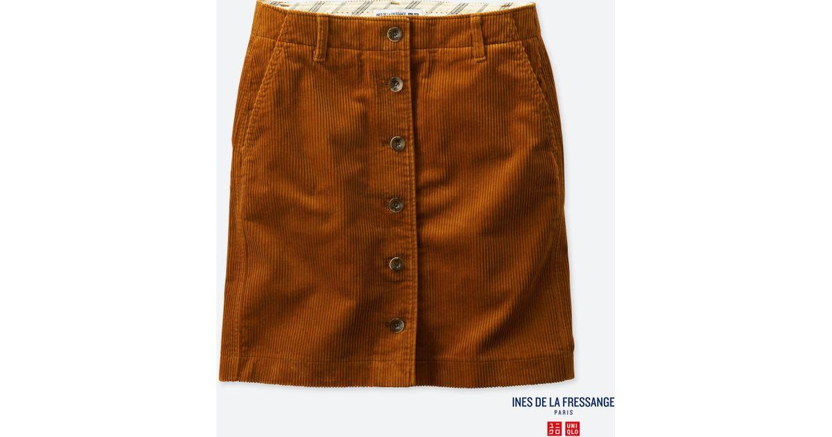 a5ad8b294f Uniqlo Women Idlf Corduroy Mini Skirt in Brown - Lyst