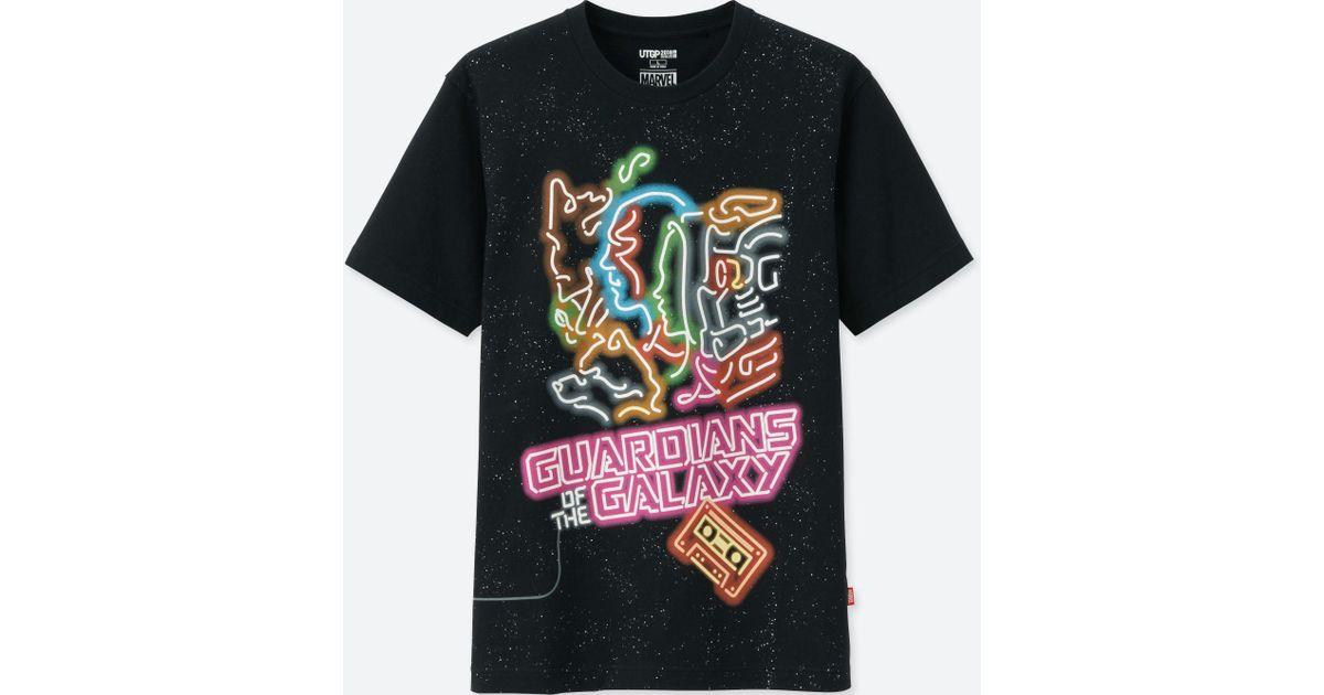 6742719b Uniqlo Ut Grand Prix Marvel Short Sleeve Graphic T-shirt in Black for Men -  Lyst