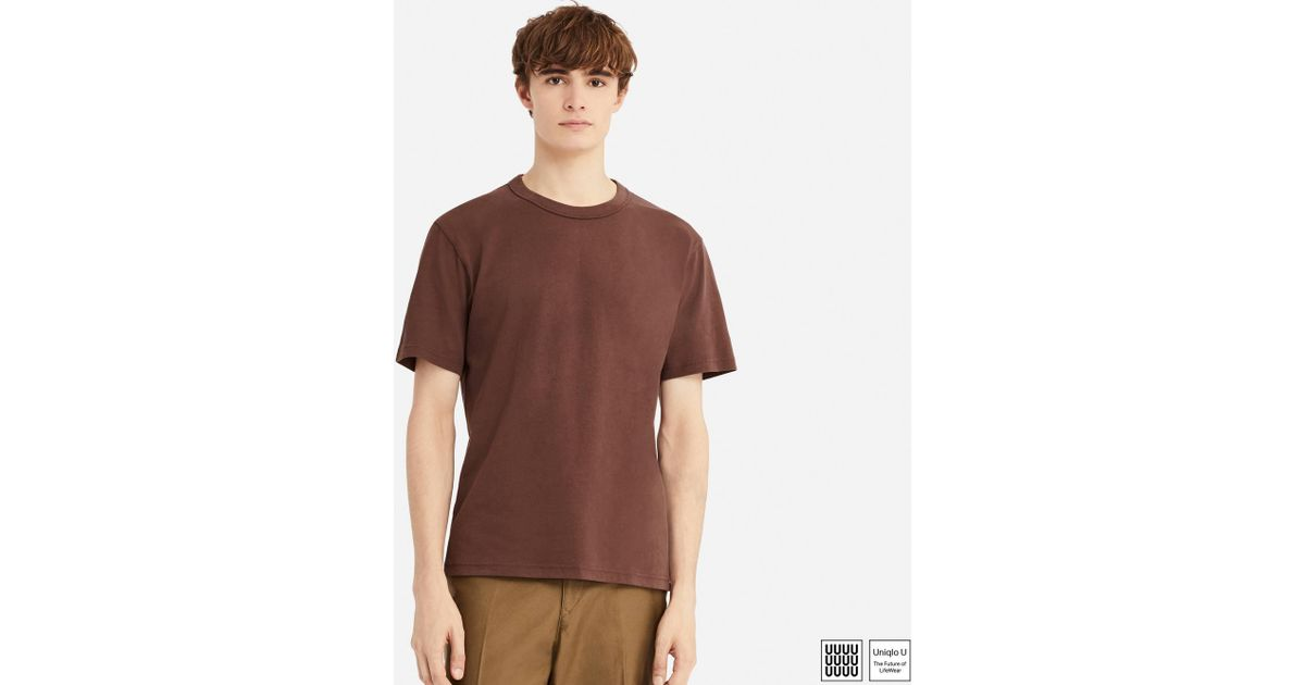 08f27a5a769e Lyst - Uniqlo Men U Crew Neck Short-sleeve T-shirt in Purple for Men