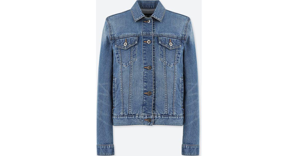 Lyst Uniqlo Women Denim Jacket In Blue