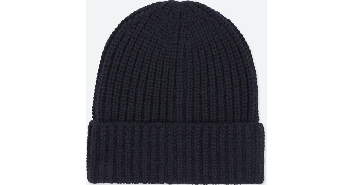 c86585ceb5c7f Uniqlo Heattech Knitted Beanie Hat in Blue for Men - Lyst