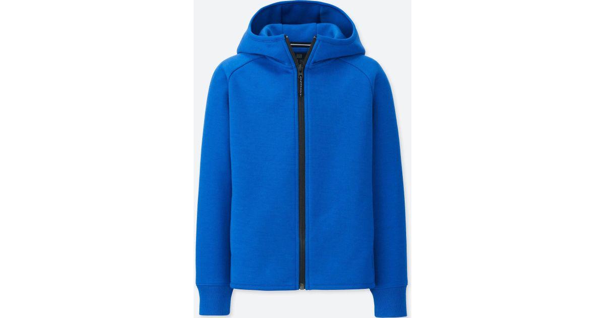 037c5cd56439 Uniqlo Kids Dry Stretch Sweat Long-sleeve Full-zip Hoodie in Blue ...