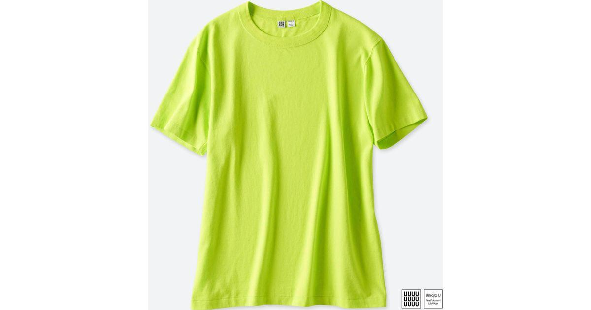 b29e08ad0a5d Lyst - Uniqlo Men U Crewneck Short-sleeve T-shirt in Green for Men