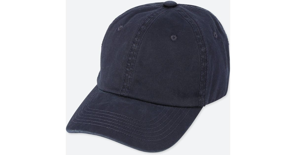 0fb1637a7fd ... coupon code for lyst uniqlo cotton twill cap in blue for men 32ecf 7d7aa
