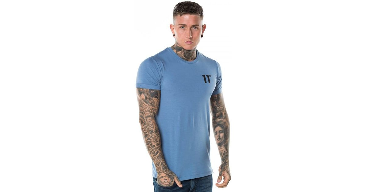 a6418977 Lyst - 11 Degrees Muscle Fit T-shirt in Blue for Men