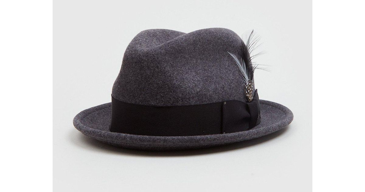 8494c39bd73f0 Bailey of Hollywood Bailey Tino Felt Crushable Trilby Hat (wool) in Black  for Men - Lyst