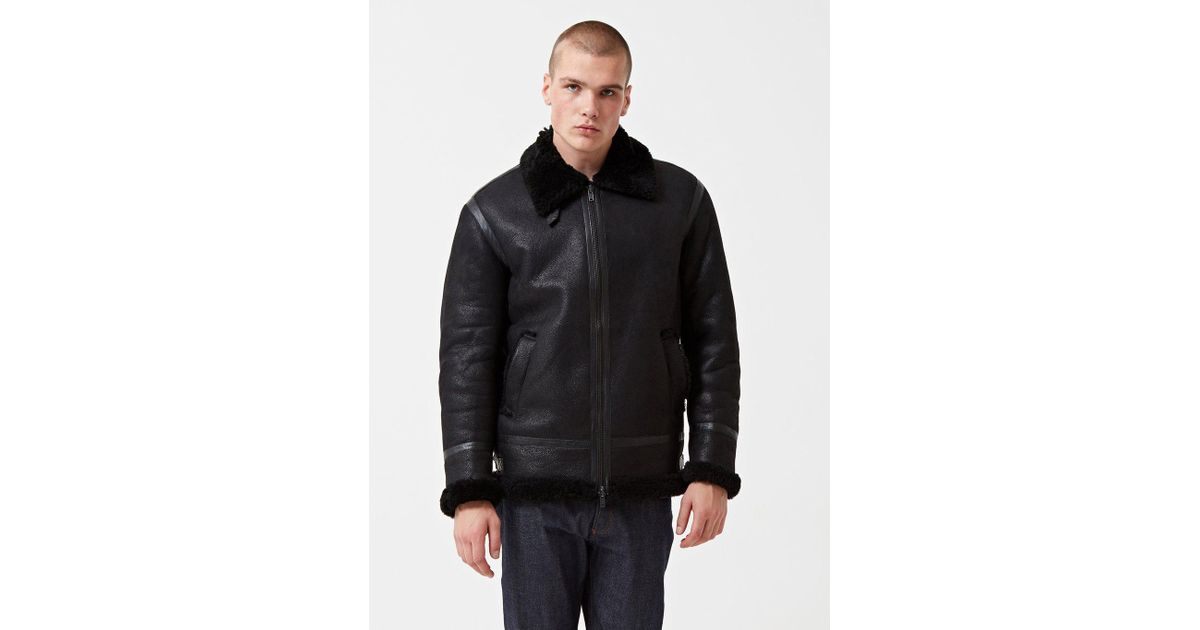 1479b823f Levi's Black Made & Crafted Shearling Bomber Jacket for men
