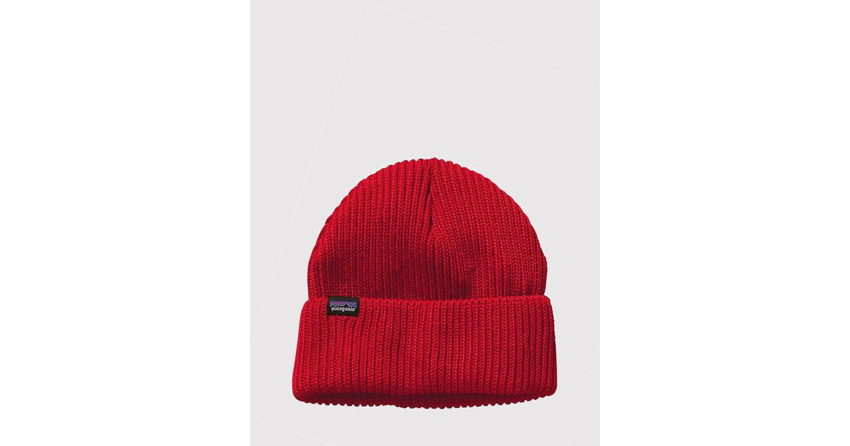 8ccd2d089b3 Lyst - Patagonia Fisherman s Rolled Beanie Hat in Red for Men