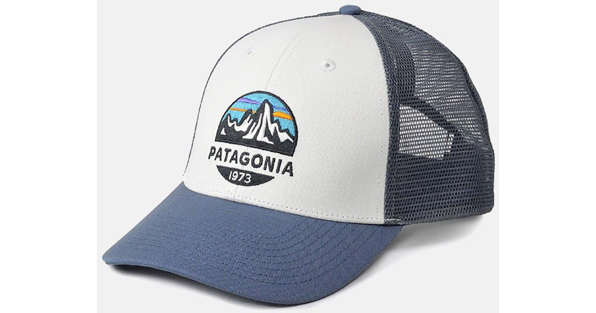 83da25fb7 Patagonia White Fitz Roy Scope Lopro Trucker Cap for men