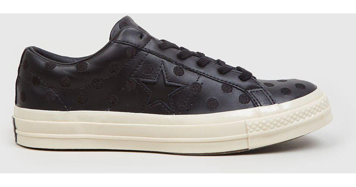 9885e44ee3af44 Converse One Star  74 (polkadot Leather) in Black for Men - Lyst