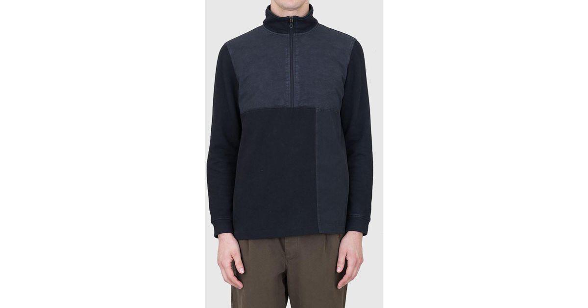28d733d36cc Folk Black Combination Funnel Neck Sweatshirt for men