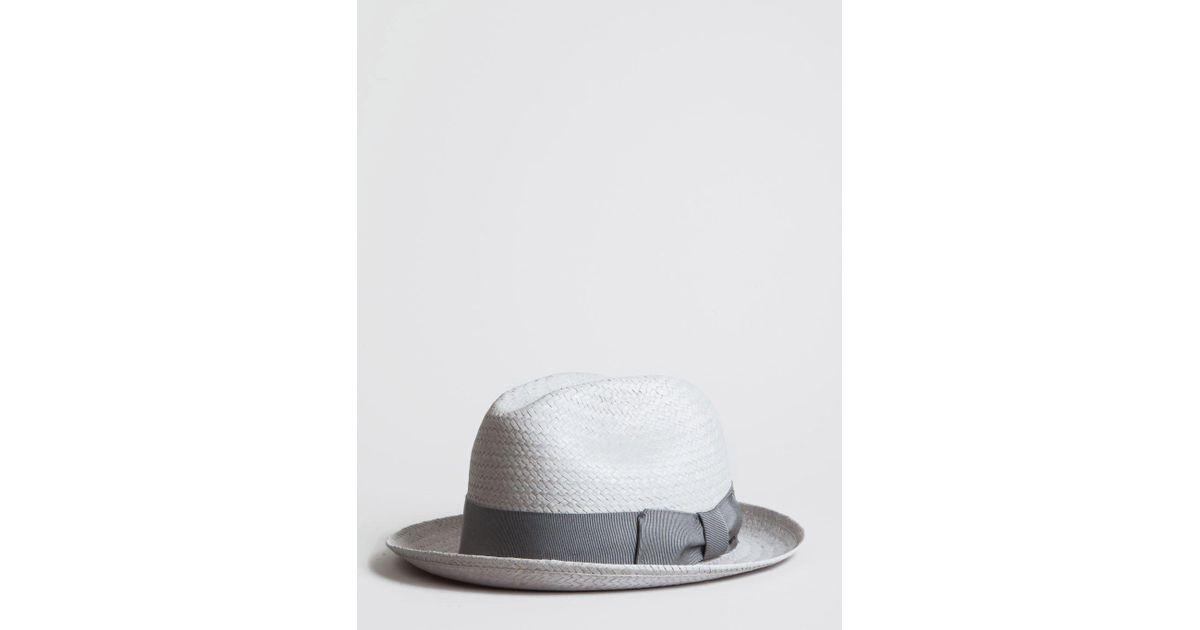 8268ea499 Bailey of Hollywood Gray Bailey Lando Straw Trilby Hat for men