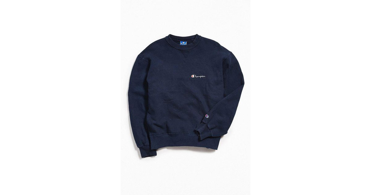 4477d1a7bb03 Lyst - Urban Outfitters Vintage Champion Navy Crew Neck Sweatshirt in Blue  for Men