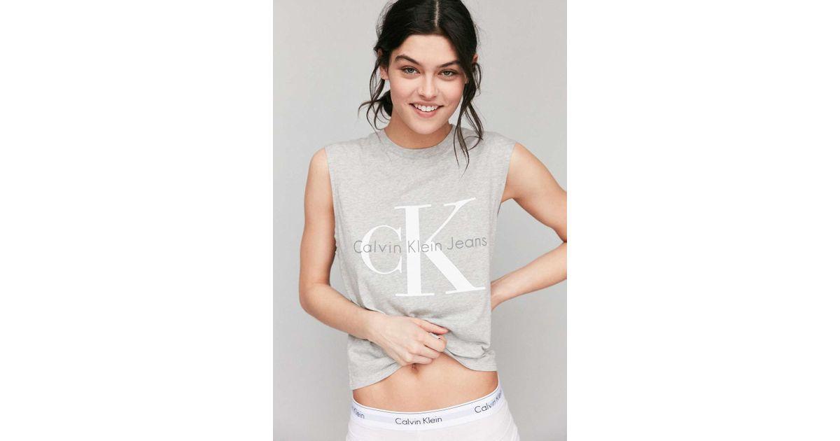 79de4613c45ff1 Calvin Klein For Uo Muscle Tee in Gray - Lyst