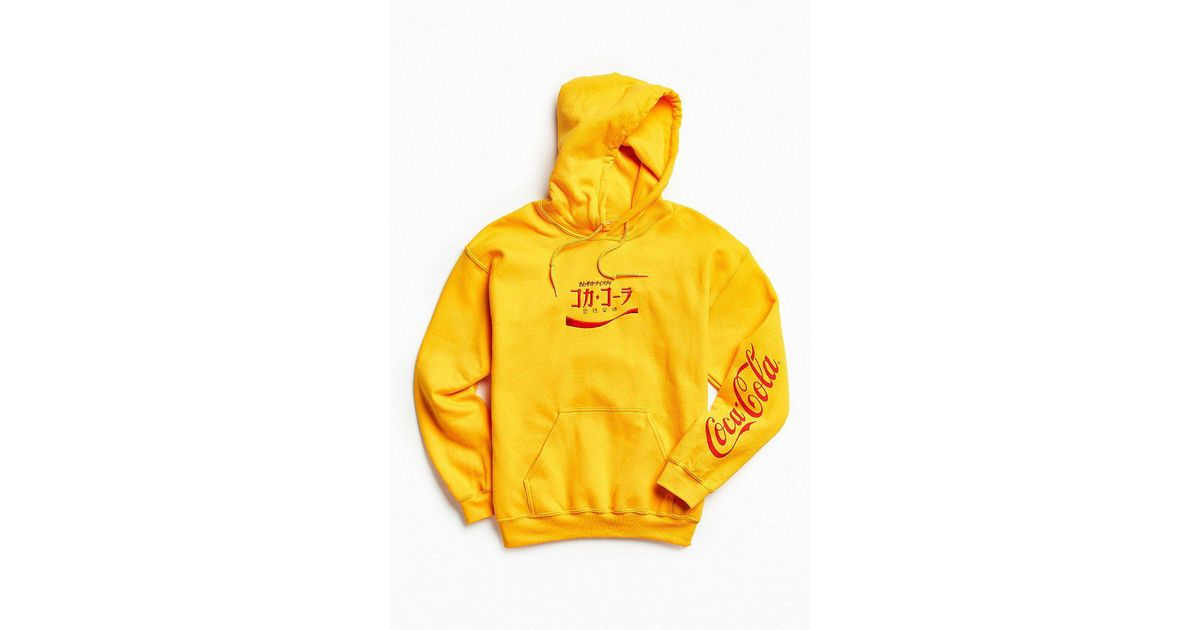 a9b57e7c081 Urban Outfitters Metallic Coca-cola Embroidered Hoodie Sweatshirt for men