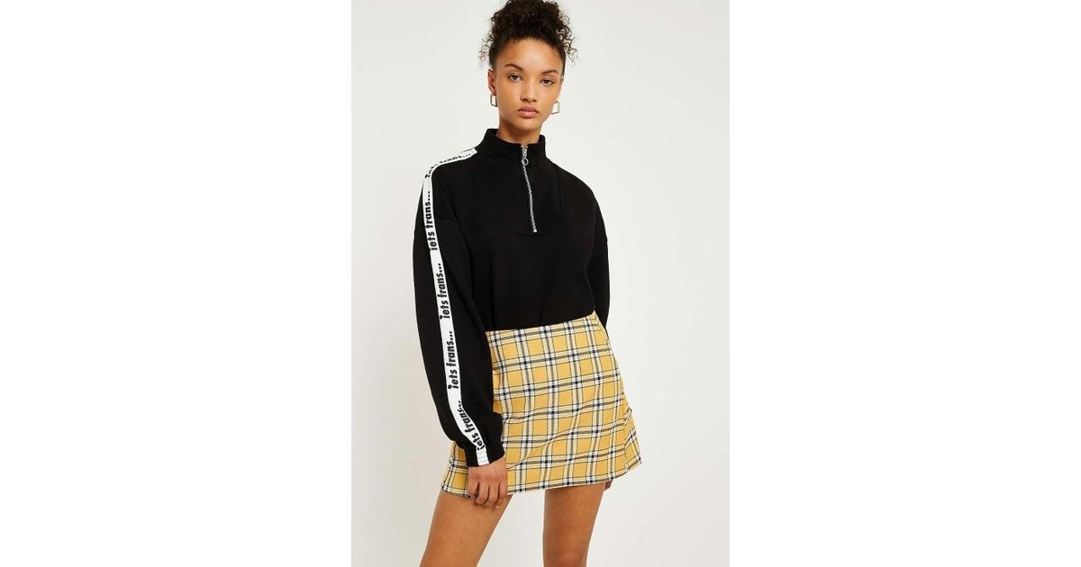 ab993d5fd14b Urban Outfitters Uo Mustard Yellow Checked Pelmet Skirt - Womens Xs in  Yellow - Lyst