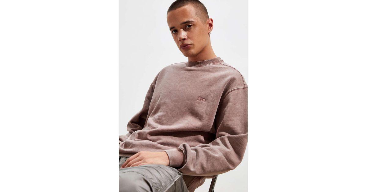Katin Men/'s Mineral Wash Long Sleeve Sweatshirt Mauve//Distressed