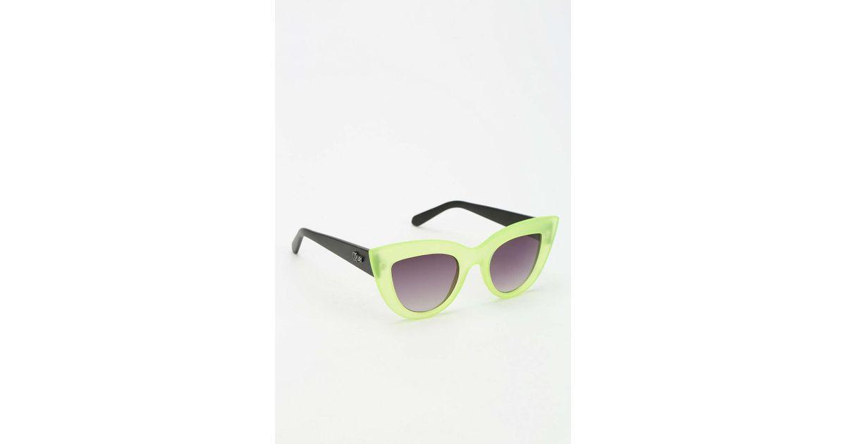 17ea61bbae6 Lyst - Quay Kittie Cat-eye Sunglasses in Green