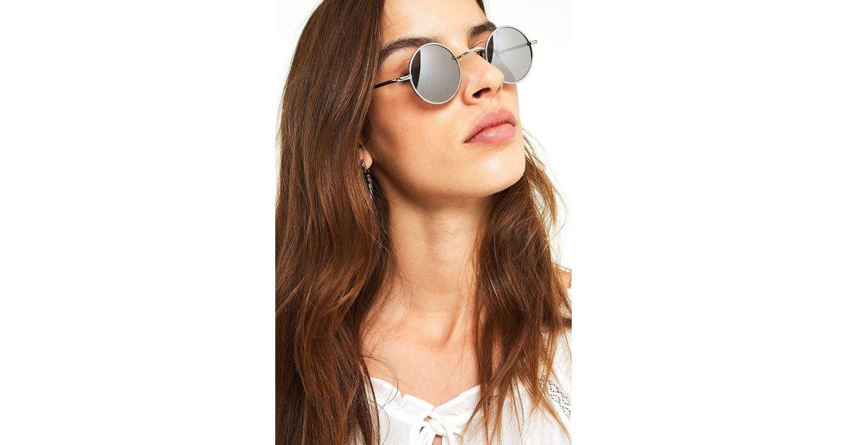 c58b7a95f3233 Urban Outfitters Super Mini Round Sunglasses - Womens All in Metallic - Lyst