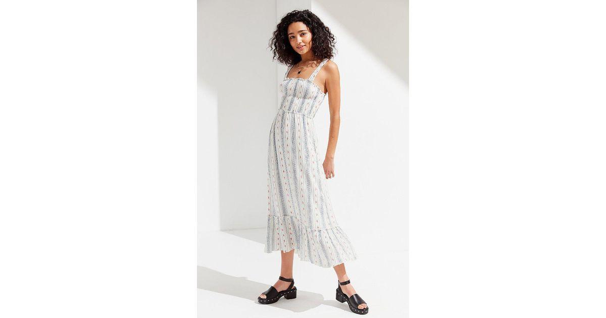 9ec41fcbcc Urban Outfitters Uo Ophelia Ruffle Hem Midi Dress - Lyst