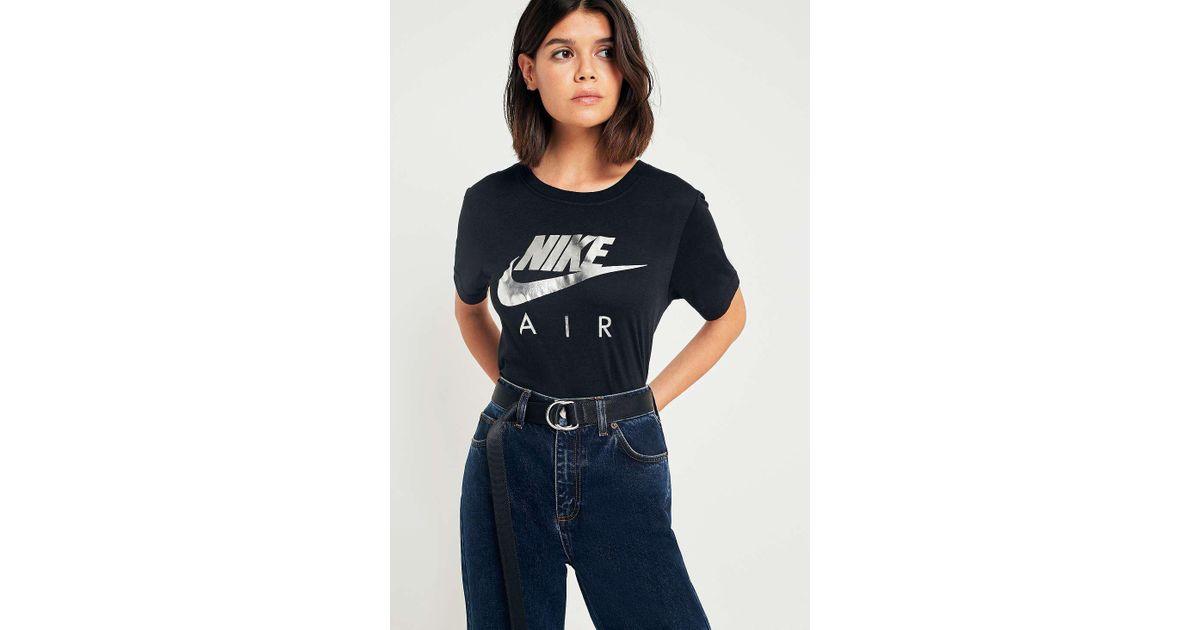 3fa67b07 Nike Air Tie Dye Swoosh T-shirt - Womens M in Black - Lyst