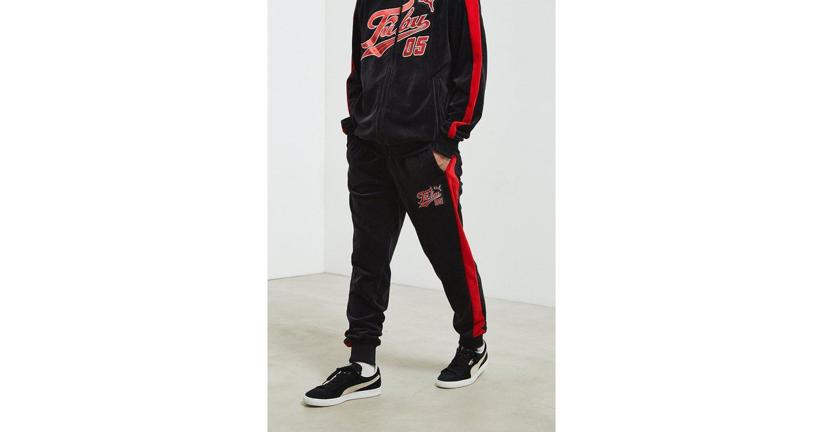 PUMA Black Puma X Fubu Velour Track Pant for men