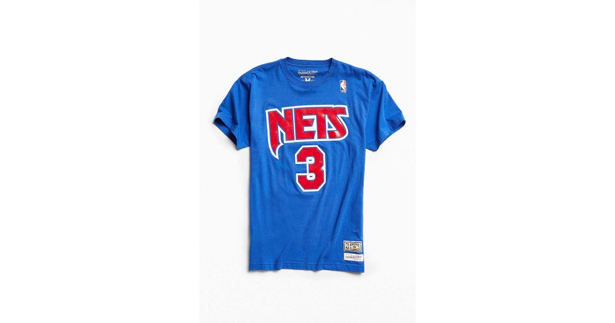 finest selection f812c 78f80 Mitchell & Ness Blue New Jersey Nets Drazen Petrovic Tee for men