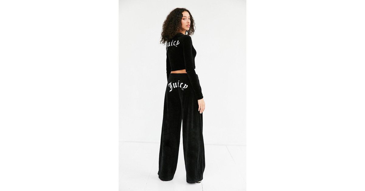 Juicy Couture Cotton For Uo Behati Wide Leg Track Pants In Black Lyst