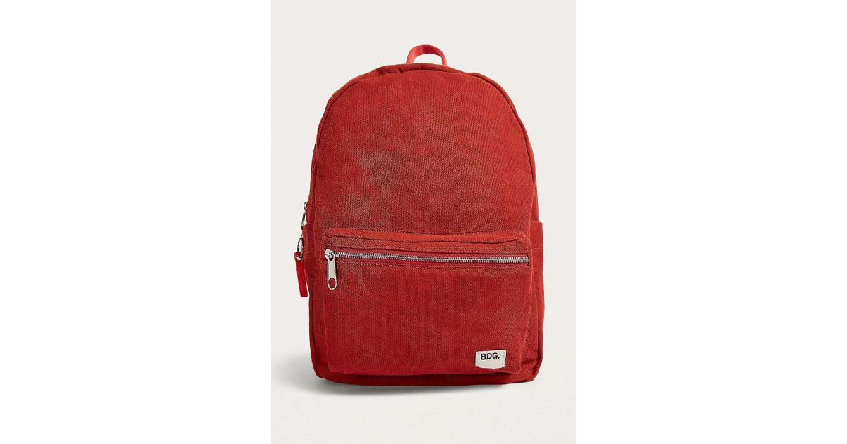 1b9d09bd2953 BDG Red Canvas Backpack - Womens All in Red - Lyst