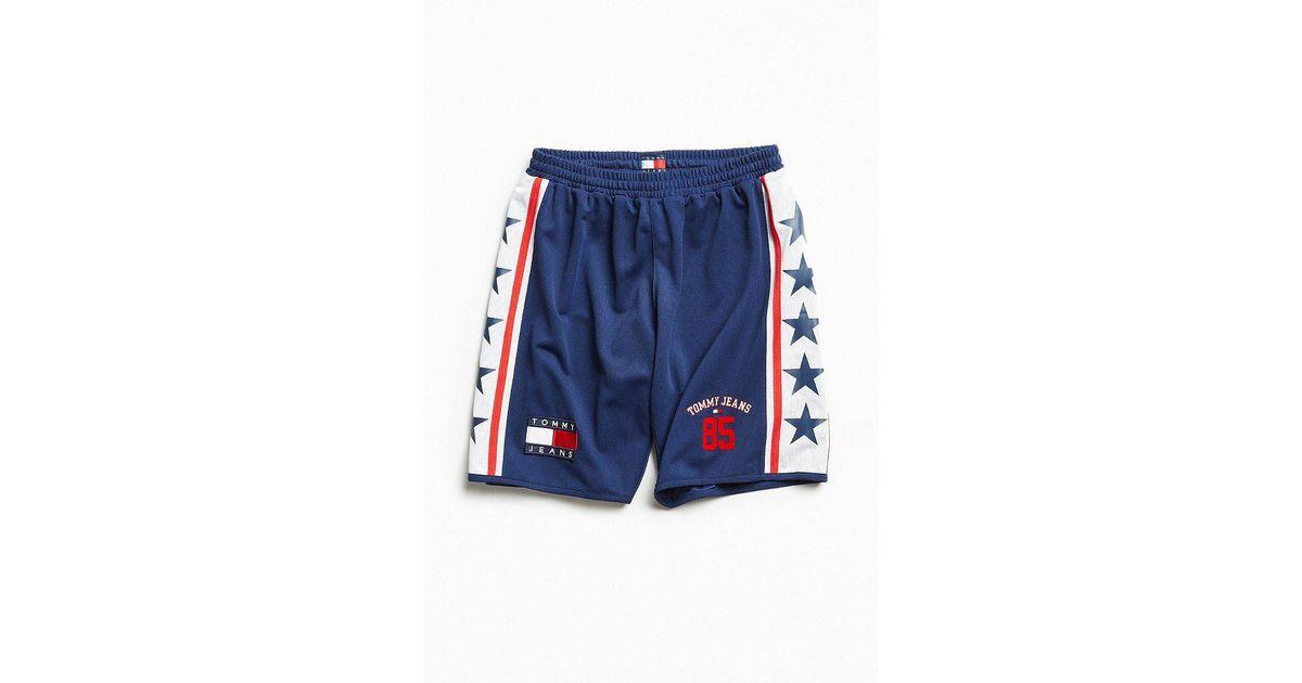 d74e9db00e Tommy Hilfiger Tommy Jeans '90s Logo Mesh Basketball Short in Blue for Men  - Lyst