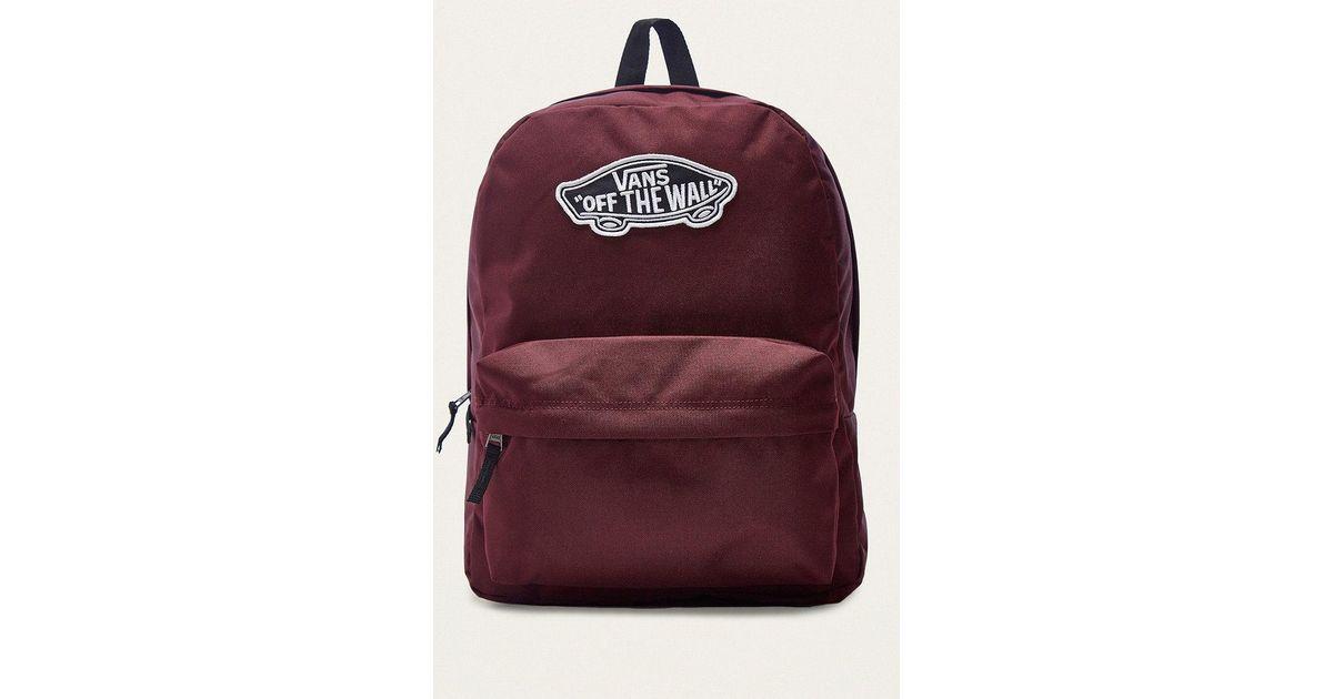 Vans Realm Burgundy Backpack for Men - Lyst