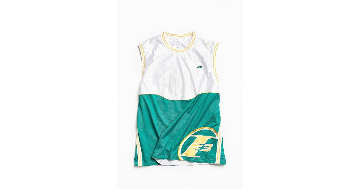new arrival 0ad04 ce3ea Urban Outfitters White Vintage Reebok Allen Iverson Question Basketball  Jersey for men