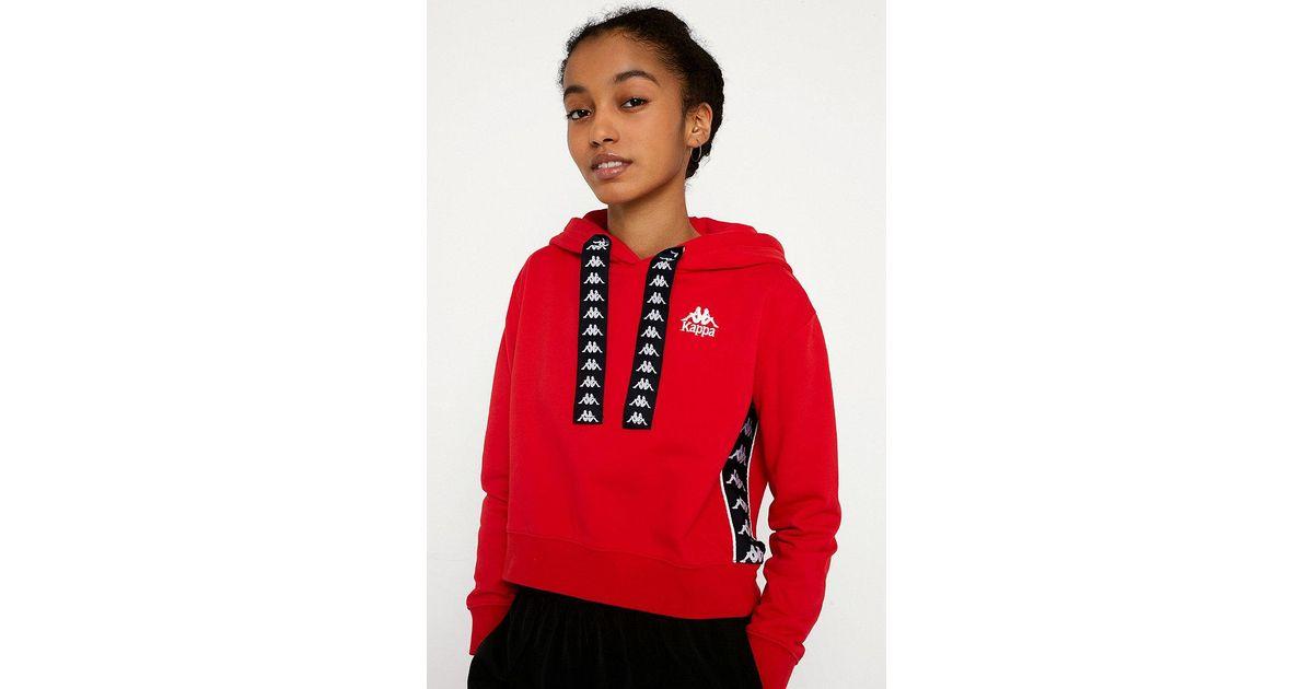 f936ee66c75839 Kappa Banda Crop Hoodie - Womens M in Red - Lyst