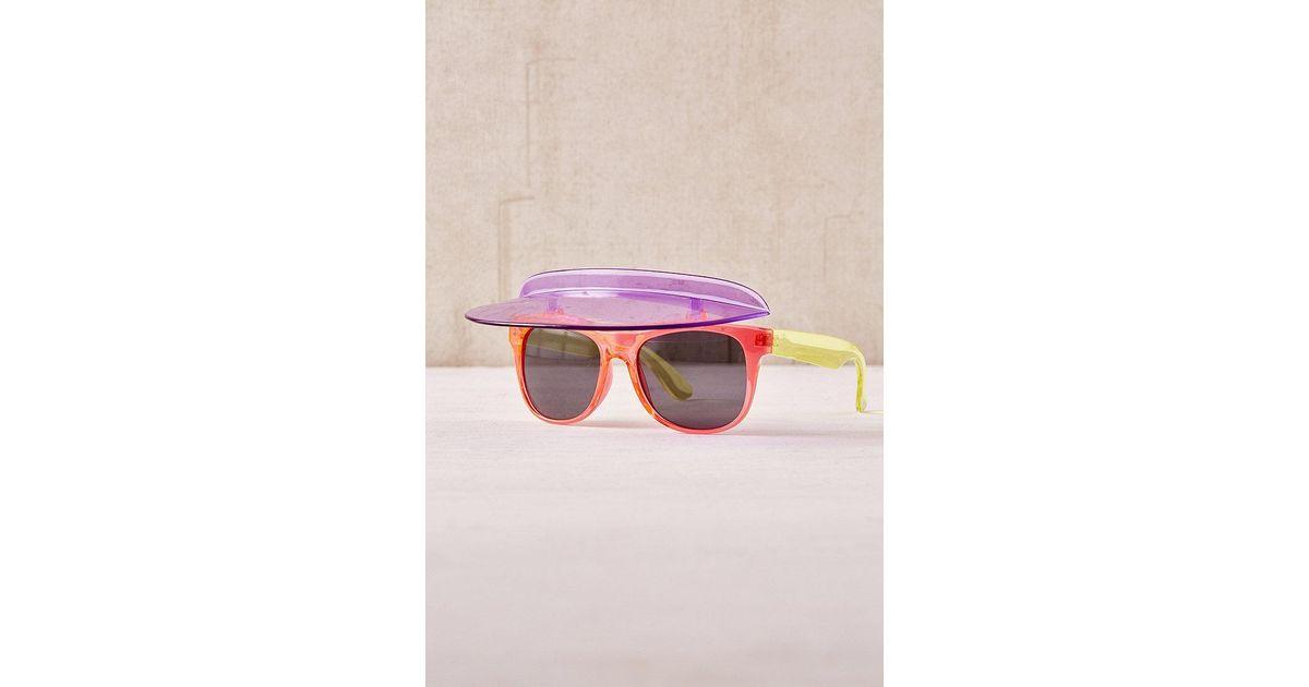 eb91070830 Urban Outfitters Colourblock Visor Shades - Lyst