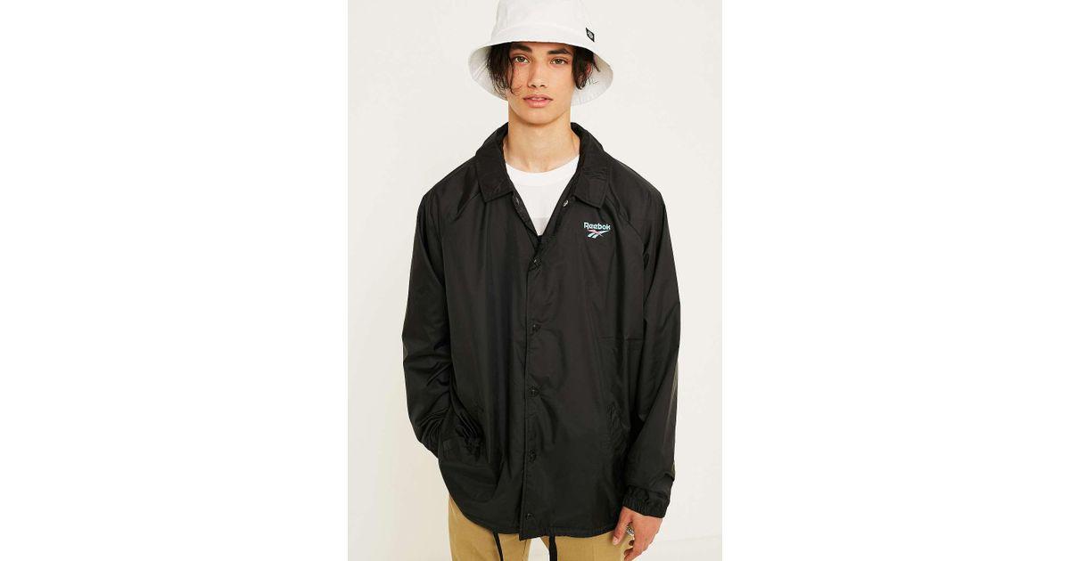 43f315cf Reebok Vector Black Coach Jacket - Mens S for men