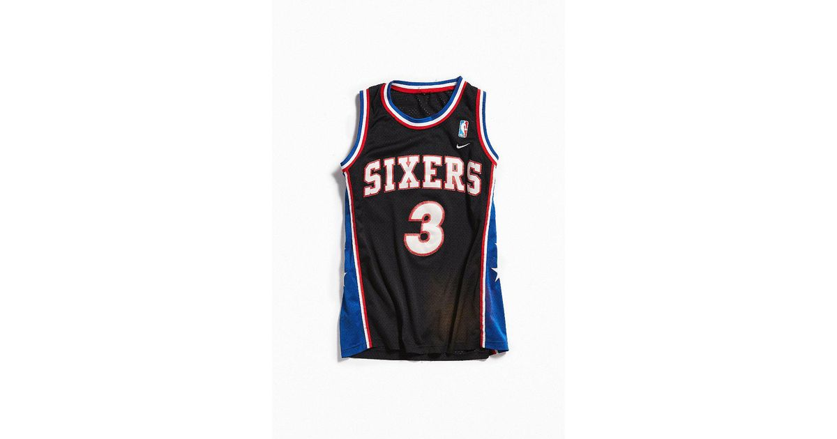 7b81bfa2a Lyst - Urban Outfitters Vintage Nike Allen Iverson Sixers Basketball Jersey  in Black for Men