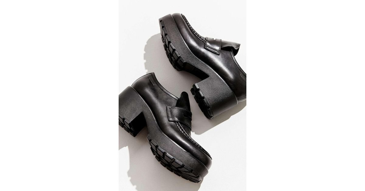c58064f159e Vagabond Dioon Leather Platform Loafers - Womens Uk 3 in Black - Lyst