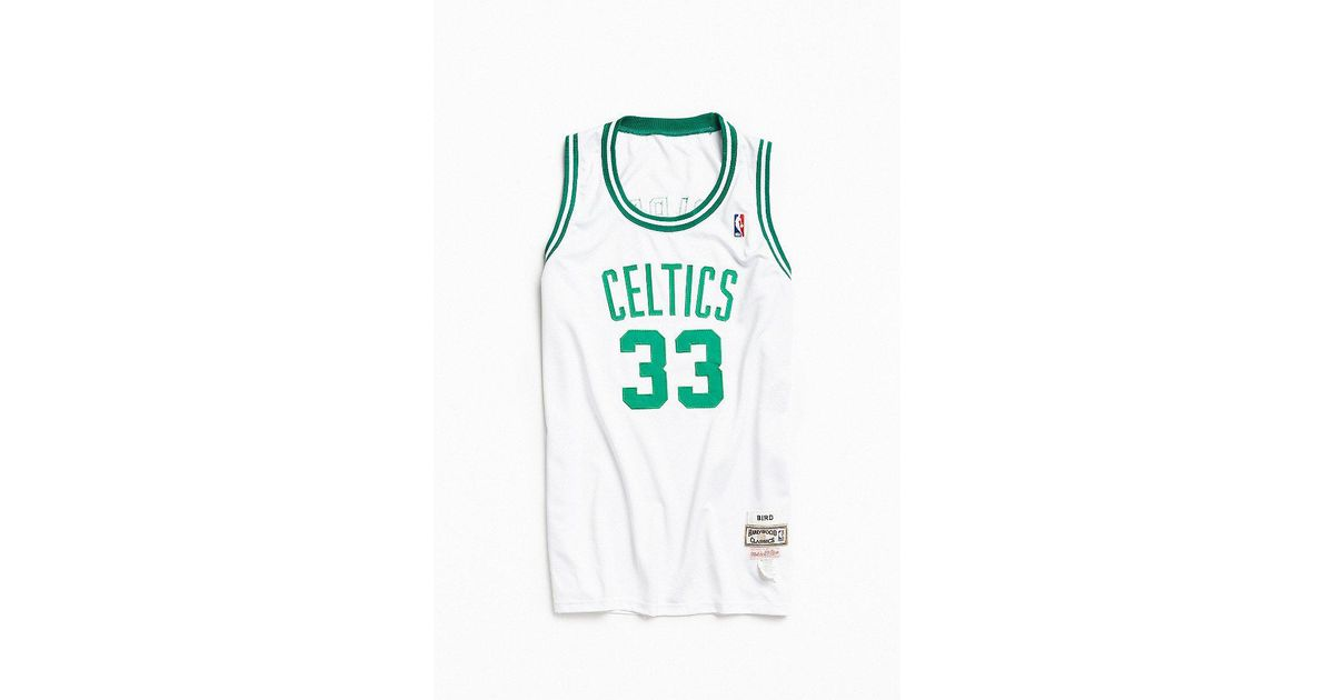 huge discount 8c66e 07f00 Urban Outfitters Green Vintage Mitchell & Ness Larry Bird Boston Celtics  Basketball Jersey for men